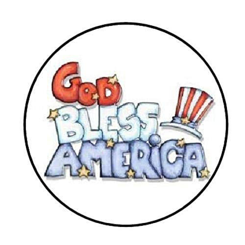 "tkcutecandies123 48 GOD Bless America Envelope Seals Labels Stickers 1.2"" Round"