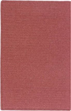 (Colonial Mills Westminster Square 4' Braided Modern Area Rug In Red Solid)