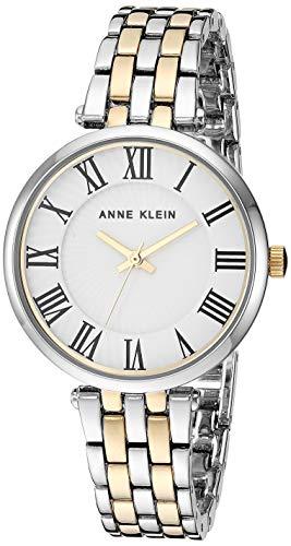 Anne Klein Women's AK/3323WTTT Two-Tone Bracelet Watch (Klein Bracelet Roman Numeral Anne)