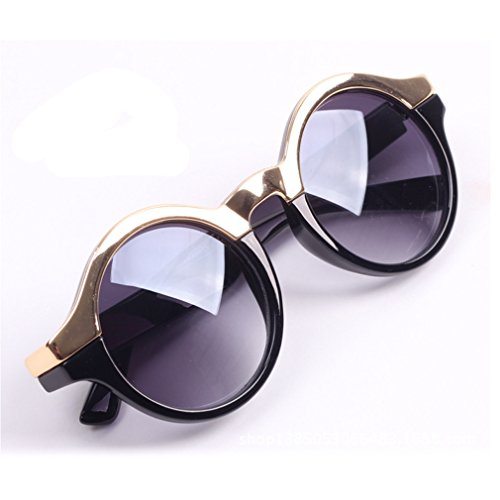 Unisex Retro Circle Round Metal Nose Bridge Mirror Lens Sunglasses - Ic Berlin Com