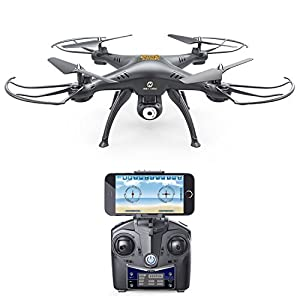 Holy Stone HS110 Wifi FPV Drone with Adjustable HD Camera Live Video RC Quadcopter with Altitude Hold, App Control and 3D VR Headset Compatible, RTF Easy to Fly for Beginner and Expert from Holy Stone
