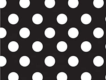 Amazon.com: 1 X Black & White Polka Dot Gift Wrap Wrapping Paper ...
