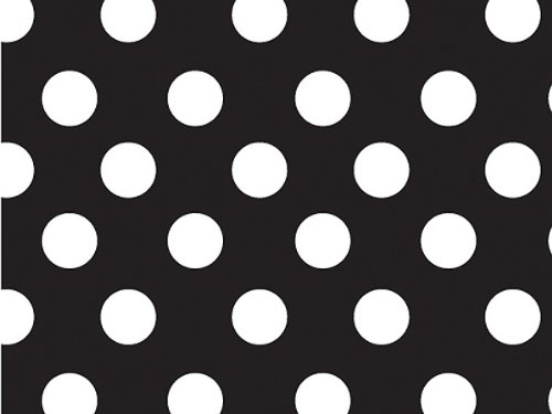 1 X Black & White Polka Dot Gift Wrap Wrapping Paper 16 Foot Roll