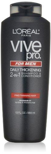 L'Oréal Paris Vive Pro For Men Daily épaississement 2-en-1 Shampoo & Conditioner, 13,0 Fluid Ounce