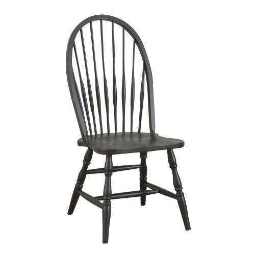 Spindle Windsor Chair - Carolina Classic 1C53-969 Cottage Windsor Chair, Antique Black