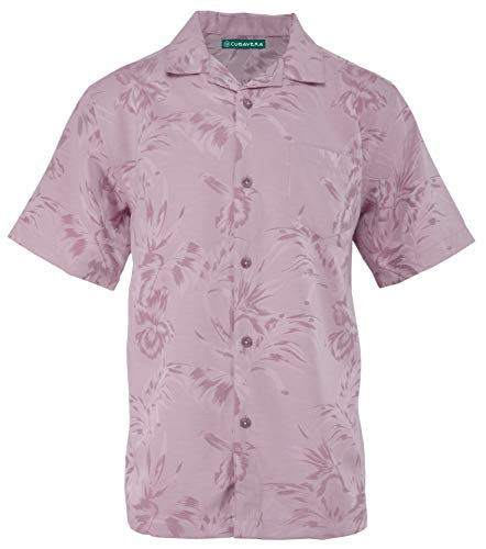(Cubavera Short Sleeve Tropical Floral Jacquard Woven Sport Shirt | Malaga Medium)