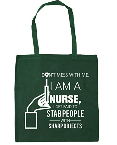 Tote 42cm Bag stab Beach sharp HippoWarehouse 10 to Bottle litres Shopping x38cm Gym with people with I I me Don't nurse objects get Green a paid mess am q1n7RqBwTx
