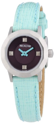 Nixon Women's Mini B A338302 Green Leather Quartz Watch