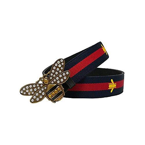 e86e13cf8a2 Beatfull Designer Genuine Leather Bee Belt for Women