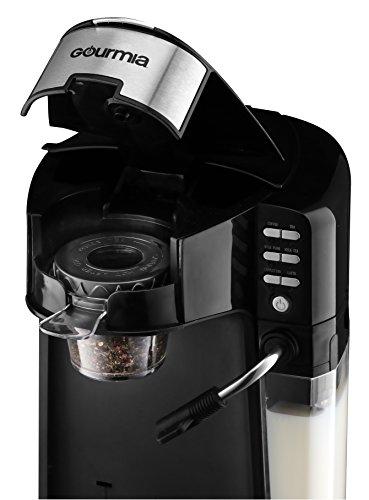 Gourmia Gcm6000 6 In 1 Single Serve Coffee Maker And Milk