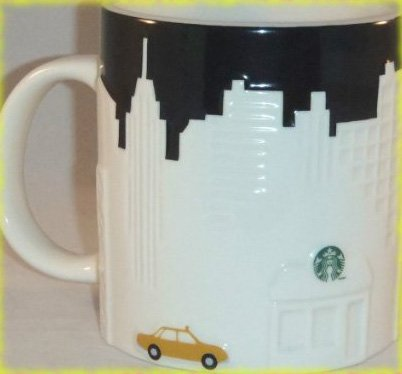 Starbucks New York Taxi Edition Mug, 16 oz (Starbucks City Mugs New York)