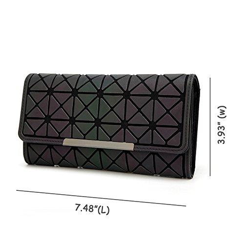 Silver Fashion Leather Women Clutch Party for Luminous Envelope Wallet Handbag Geometric Purse Evening 7ARwIqR