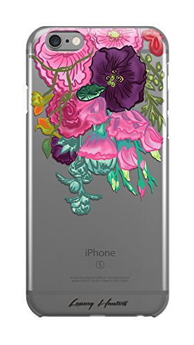 Tropical parrot palm tree leaf banana tree leafs plastic transparent see through plastic case / cover for Apple Iphone design made by LuxuryHunters ® (Iphone 6 & 6s)