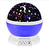 Cheap Baby Night Light Starry Night Light 4 LED Bead 360 Degree Romantic Room Rotating Cosmos Star Projector with 59 Inch USB Cable Light Lamp Starry Moon Sky Night Projector Kid Bedroom Lamp (Purple)