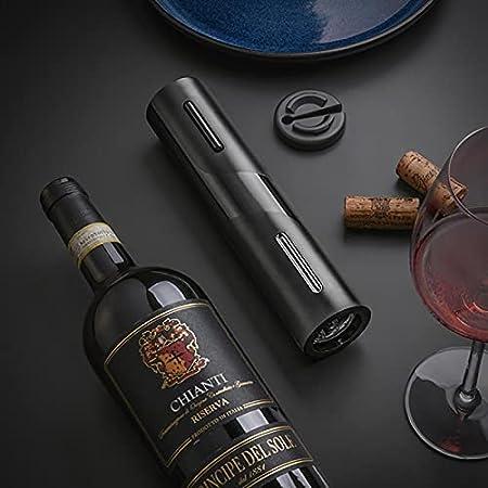 happygirr Abridor de botellas de vino eléctrico universal, sacacorchos de vino, abridor de botellas automático portátil