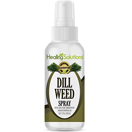 Dill Weed Spray - Made from 100% Pure Dill Weed Essential Oil - 2oz Bottle by Healing Solutions