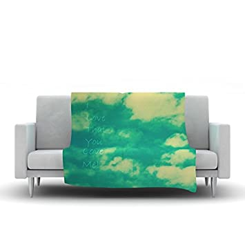 68 X 80 Kess InHouse Holly Helgeson Hattie Green Floral Wall Tapestry