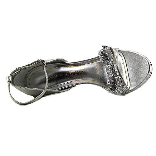 Caparros Womens Zolina Open Toe D-Orsay Pumps Silver jyzWkSPdV