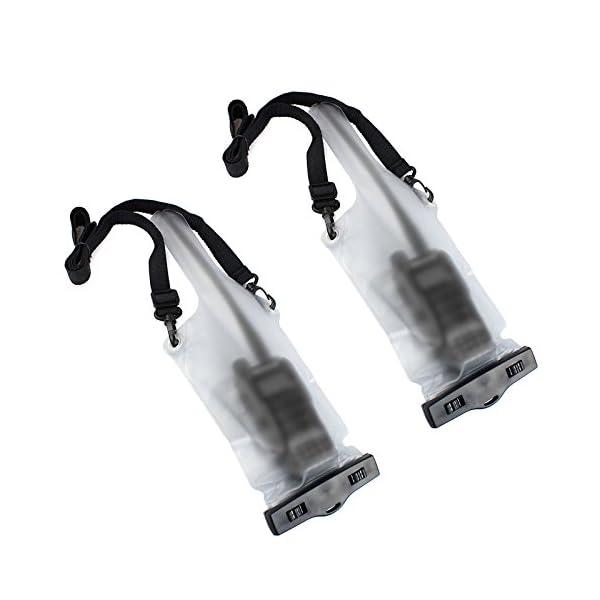 HSeaMall - Funda impermeable universal transparente para radio o walkie-talkie, protección frente a la lluvia, Motorola… 2