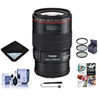 Canon EF 100mm f/2.8L IS USM Macro AF Lens Kit - U.S.A - Bundle with 67mm Filter Kit, Lens Cap Leash, Lens Cleaning Kit, Lens Wrap (15x15), Professional Software Package
