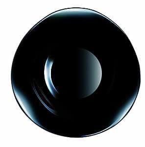 Luminarc 9299402 Volare - Plato hondo (23 cm), color negro (1 unidad)