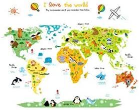 ملصق لعالم الحيوانات لغرفة الأطفال ورياض الأطفال ملصق
