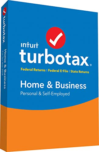 Software : TurboTax Home & Business + State 2018 Tax Software [PC/Mac Disc] [Amazon Exclusive]
