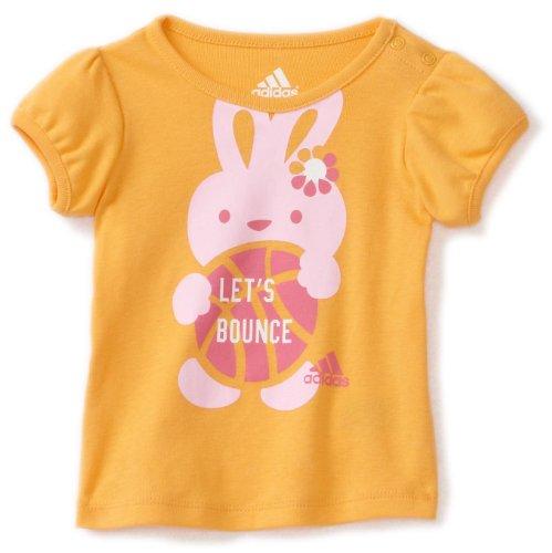 adidas Baby Girls' Puff Sleeve Tee