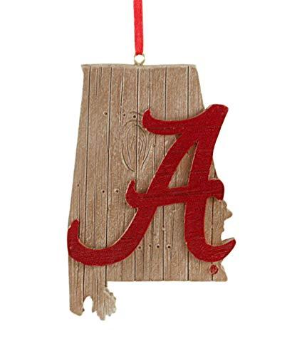 (Alabama University Hanging State Shaped Ornament)