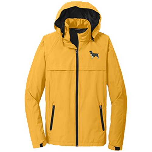 (Springer Spaniel Black Men's Rain Jacket)