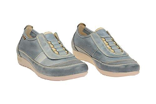 Pikolinos Femmes Chaussons plats bleu, (blau) W67-3619C1 DENIM denim/jeans/natural