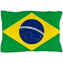 "CafePress - Flag of Brazil Pillow Case - Standard Size Pillow Case, 20""x30"" Pillow Cover, Unique Pillow Slip"