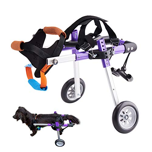 HiHydro Dog Wheelchair Lightweight Adjustable Pet Wheelchair with 2...