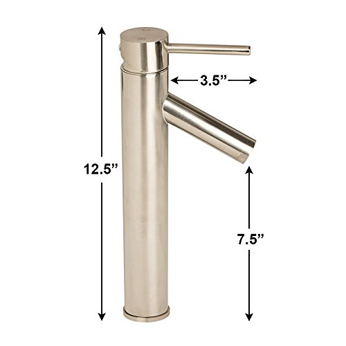 "GotHobby 12"" Euro Modern Vessel Basin Sink Bathroom Faucet Lavatory Brushed Nickel 30%OFF"