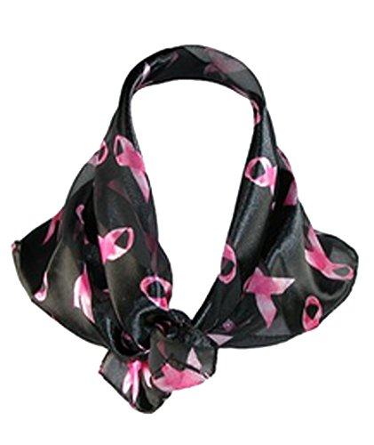 Black Scarf Breast Cancer Awareness Pink Ribbon Sash Women (Komen Pink Ribbon)