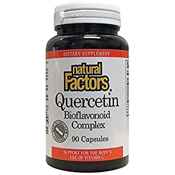 Natural Factors - Quercetin Bioflavonoid Complex, Support for the Body's Use of Vitamin C, 90 Capsules