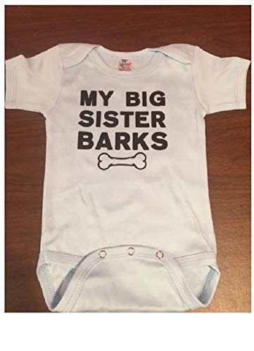 My big sister barks baby onesie my big sister is a dog one piece