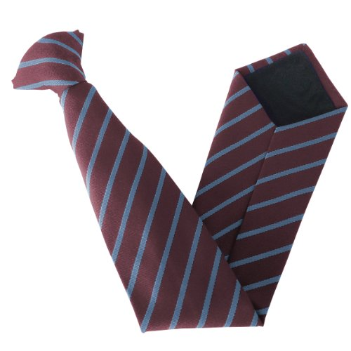 Single School Clip On Variations amp; Stripe amp; Sky Colour Size Ties Maroon gpAp1qwt5x