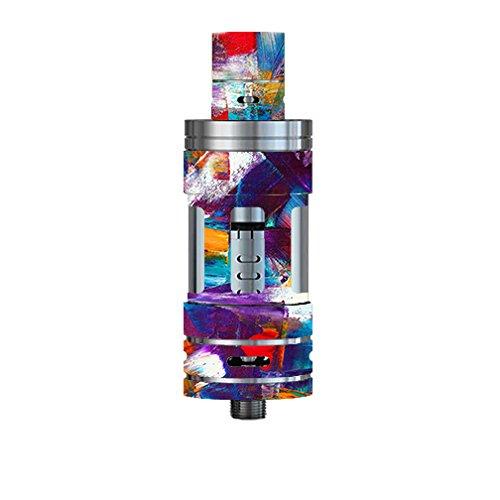 Skin Decal Vinyl Wrap for Smok TFV4 Tank Vape Mod Box / Brush Strokes Paint (Brushstroke Tank)