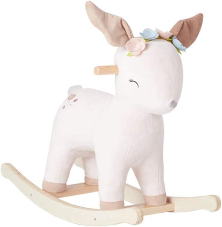 LLSS - Mecedora para bebé con Caballo Mecedora, Adecuada para bebés de más de 1 a 3 años de Edad, Silla Mecedora de Animales de Peluche, Juguete para Montar para niños PE