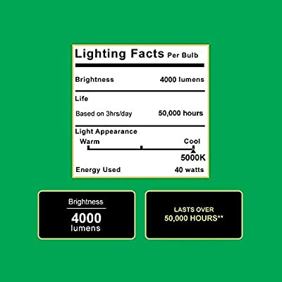 Sunco Lighting 4 PACK - MOTION SENSOR, ENERGY STAR, ETL 4ft 40W LED Utility Shop Light 4000lm 120W Equivalent, Double Integrated, 5000K Daylight Ceiling/Garage/Basement/Workshop, Linkable, Frosted