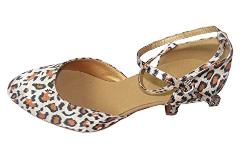 Colorfulworldstore - Zapatillas de danza para mujer Estampado de leopardo