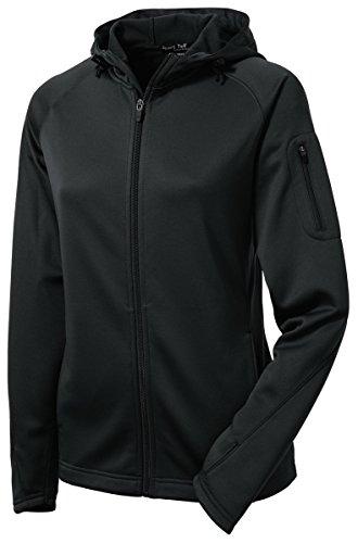 Sport-Tek Ladies Tech Fleece Full-Zip Hooded Jacket, L, - Fleece Gear Tek