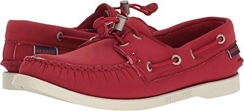 Womens Sebago Dockside Deck Shoes (Sebago Women's Dockside Ariaprene Boat Shoe, Red Ariaprene, 8 M US)