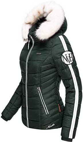 Chaqueta acolchada de invierno para mujer con piel sint/ética extra/íble Navahoo Khingaaas