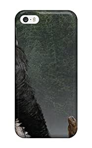 3D Hard Plastic Case for iPhone 5 5S 5G,Sleeping with Elephant Case Back Cover for iPhone 5 5S