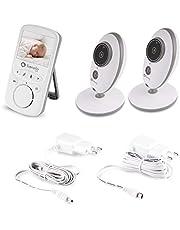 LIONELO Babyline 5.1 babyfoon 5.9 x 11.2 x 1.7 cm, tweekanaals communicatie, nachtmodus, alarm bij geen bereik, voedingsherinnering, 8 slaapliedjes, alarm, systeem VOX, tot 24 uur