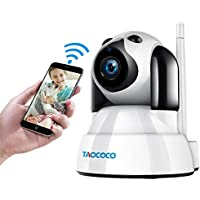 Taococo Dog 1080P FHD WiFi IP Surveillance Camera with Smart Pan/Tilt/Zoom, Motion Detection, Night Vision