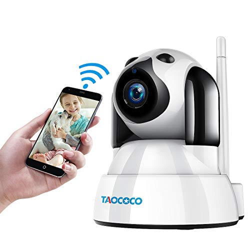 TAOCOCO Dog Pet Camera, Cat WiFi IP Camera, Wireless Surveillance Security Camera, Home Baby Monitor Nanny Cam with Smart Pan/Tilt/Zoom, Motion Detection, Two Way Talking, Infrared Night Vision from TAOCOCO