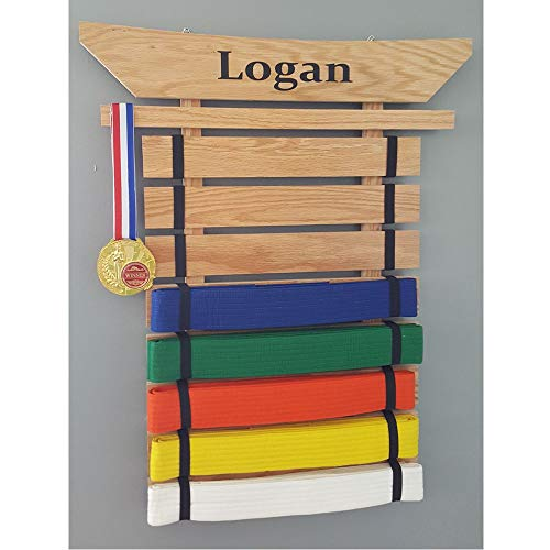 Martial Arts Belt Displays - KarateSupply Personalized Martial Arts Belt Holder